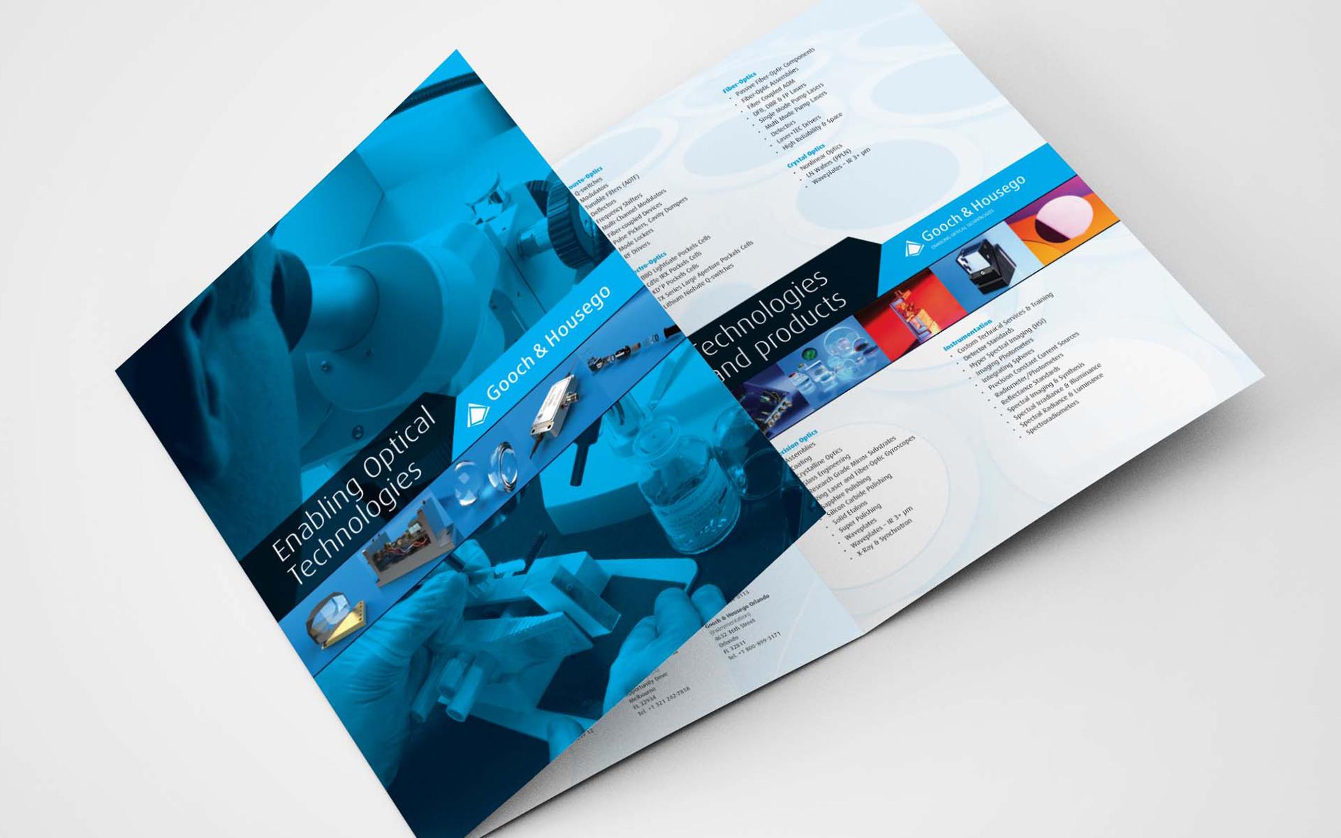 6-page gatefold brochure