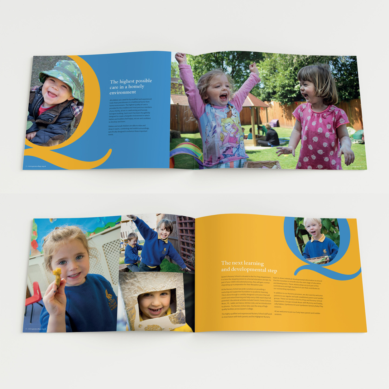 Queens Nursery Prospectus spread square