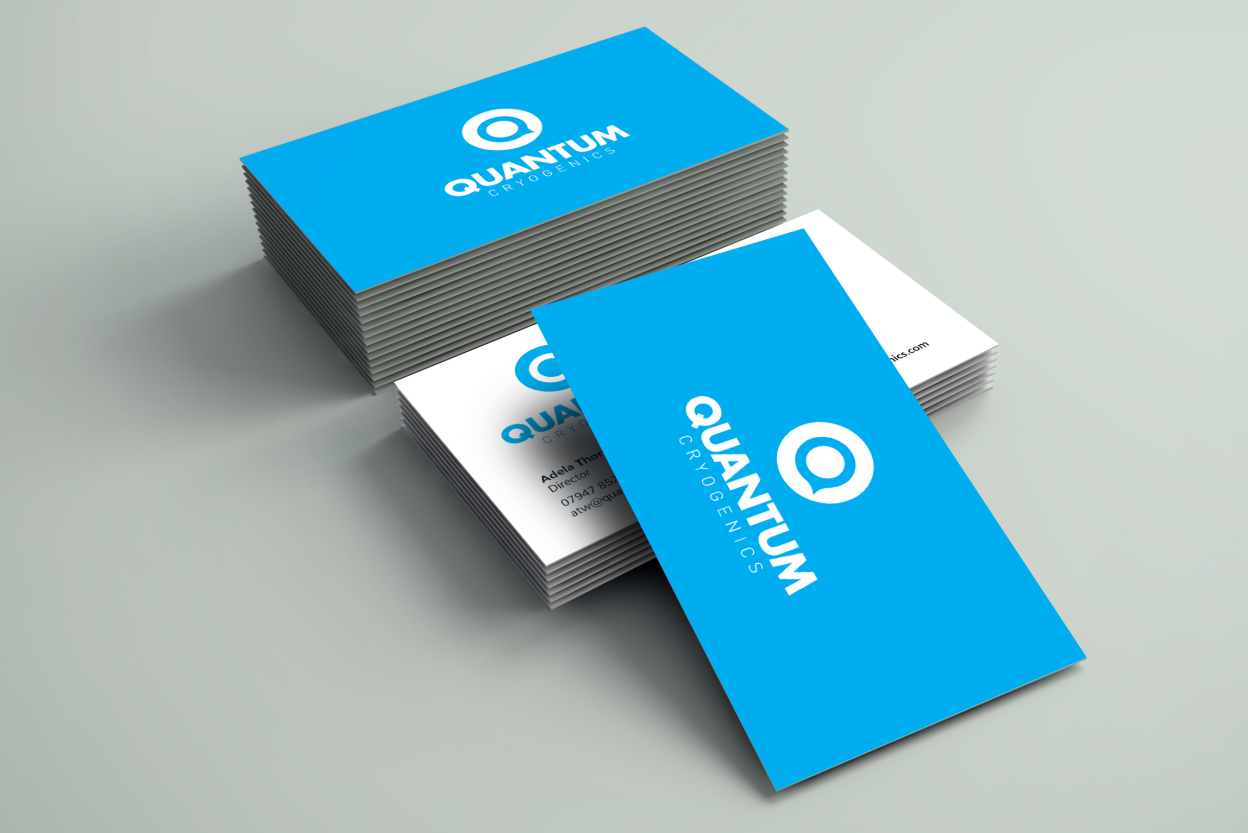 Quantum business cards in portfolio