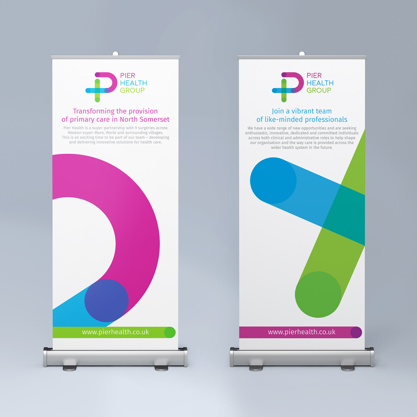 Pier Health banners